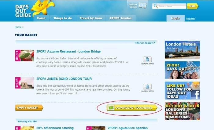 formulario 2x1 Londres
