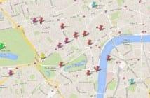 mapa con los sitios más importantes de Londres