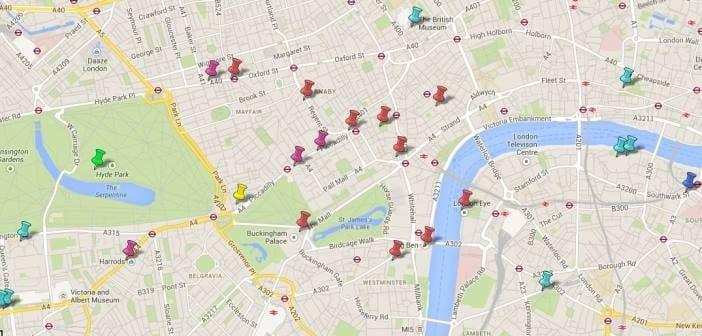 Mapa Turístico De Londres Puntos De Interés Qverlondres Com Blog Sobre Londres Con Rutas Y Eventos