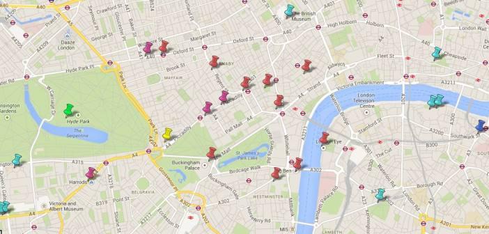 Mapa Turístico De Londres.Mapa Turistico De Londres Puntos De Interes Qverlondres