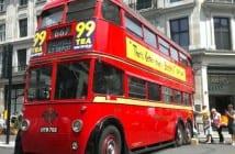 autobus londinense vintage