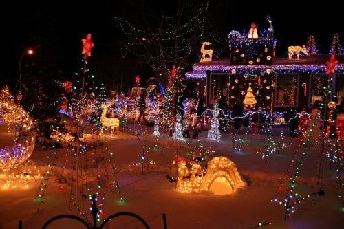 luces navidad casa reino unido
