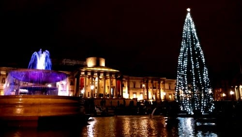 Londres en Navidad: Trafalgar Square