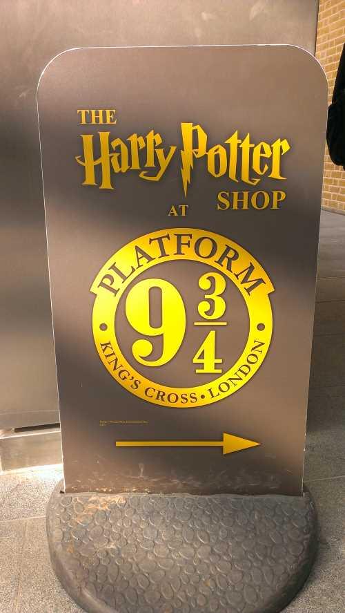 andén 9 ¾ Harry Potter