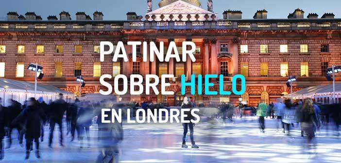 Patinaje sobre hielo en Londres en Navidad