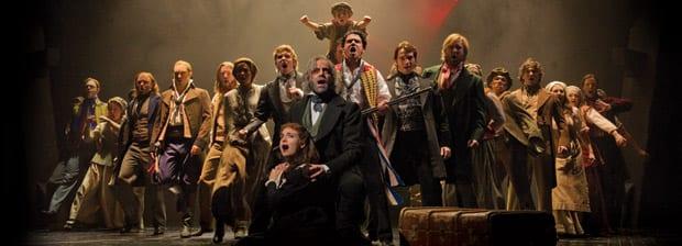 Escena del Musical Les Miserables en Londres