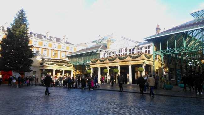 Navidad en Covent Garden en Londres