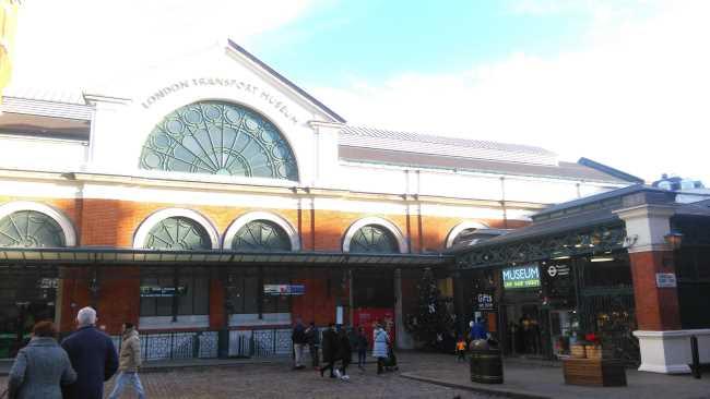 Museo del transporte en Covent Garden en Londres