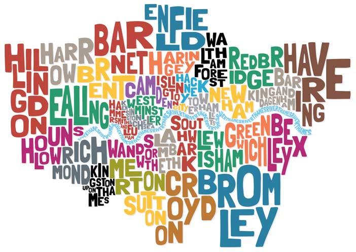 Mapa Barrios de Londres