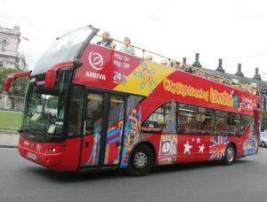 Autobus turistico de City Sightseeing en Londres