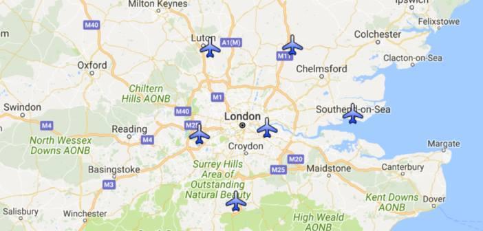 Mapa Localizacion Aeropuertos De Londres Qverlondres Com Blog