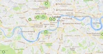 Mapa parques de Londres
