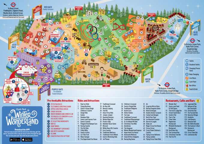 mapa winter wonderland londres 2018