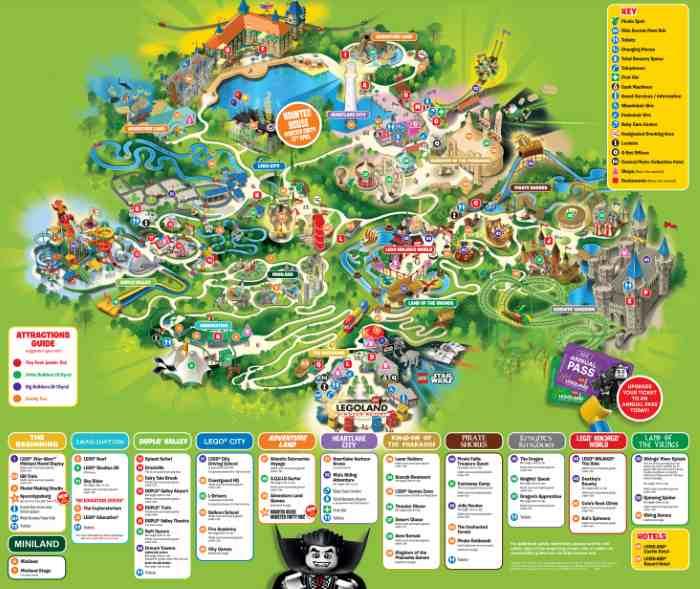 Mapa Parque Legoland Londres Windsor