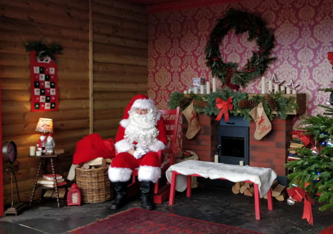 Cabaña de Papá Noel en Winter Wonderland