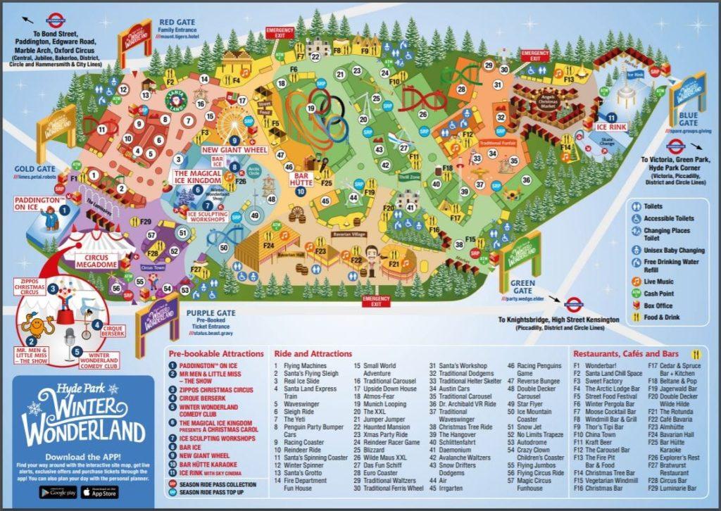 Mapa Winter Wonderland 2019